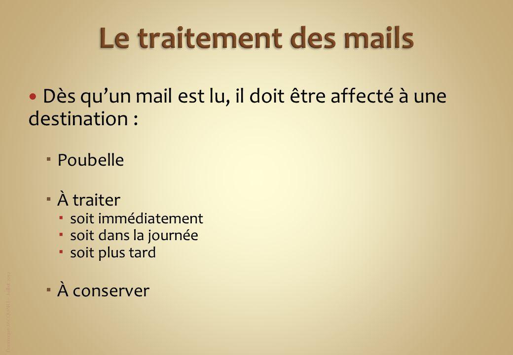 Le traitement des mails