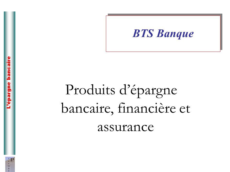 Produits d'épargne bancaire, financière et assurance
