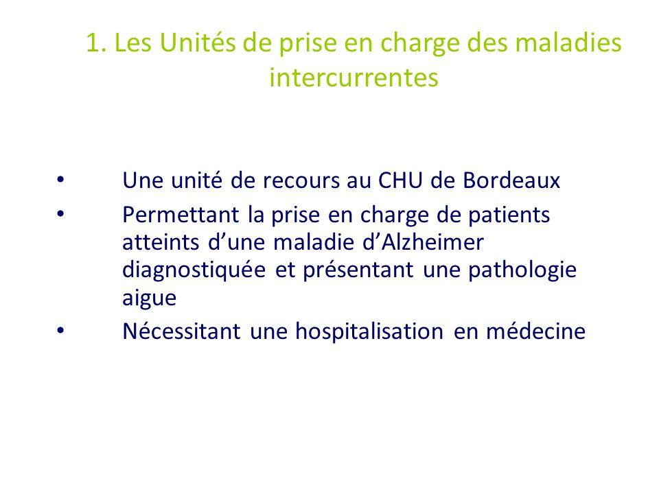 1. Les Unités de prise en charge des maladies intercurrentes