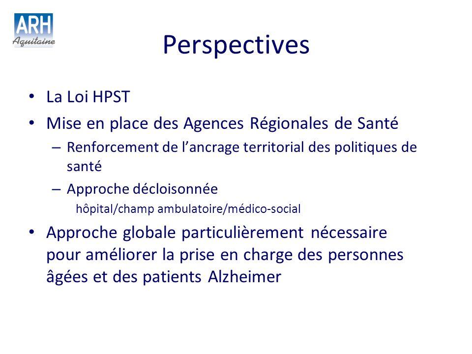 Perspectives La Loi HPST Mise en place des Agences Régionales de Santé