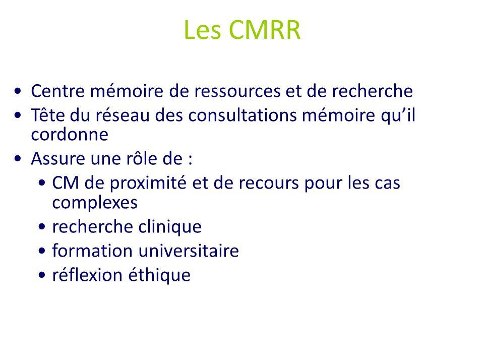 Les CMRR Centre mémoire de ressources et de recherche