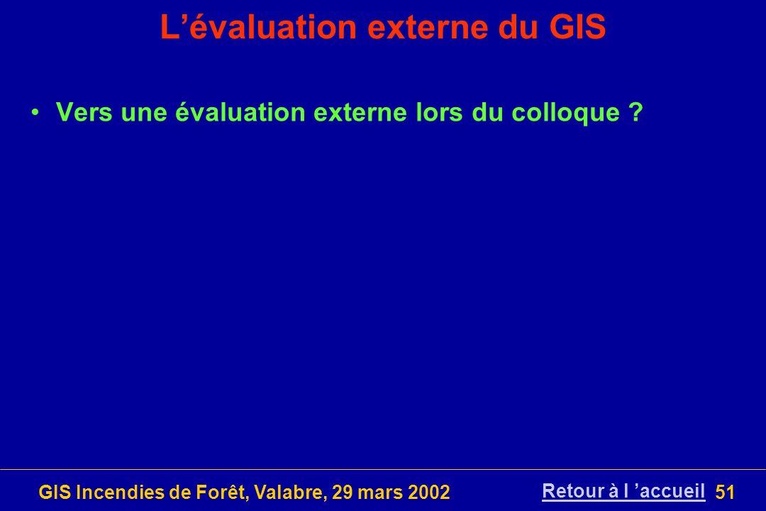 L'évaluation externe du GIS