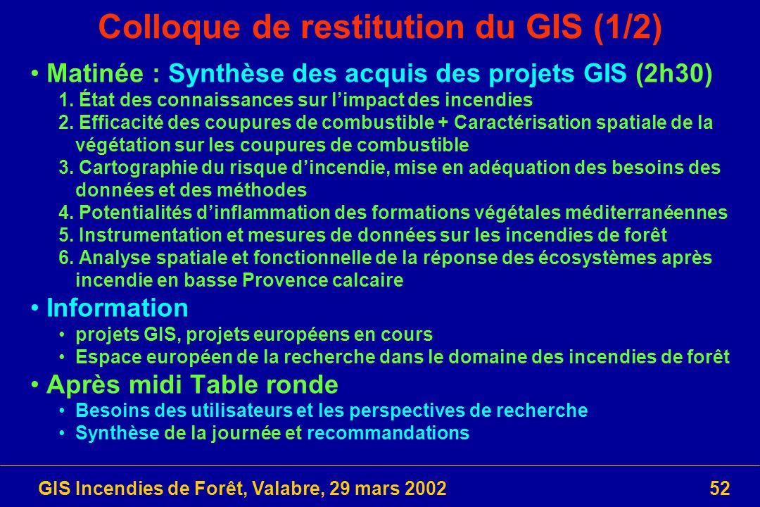 Colloque de restitution du GIS (1/2)