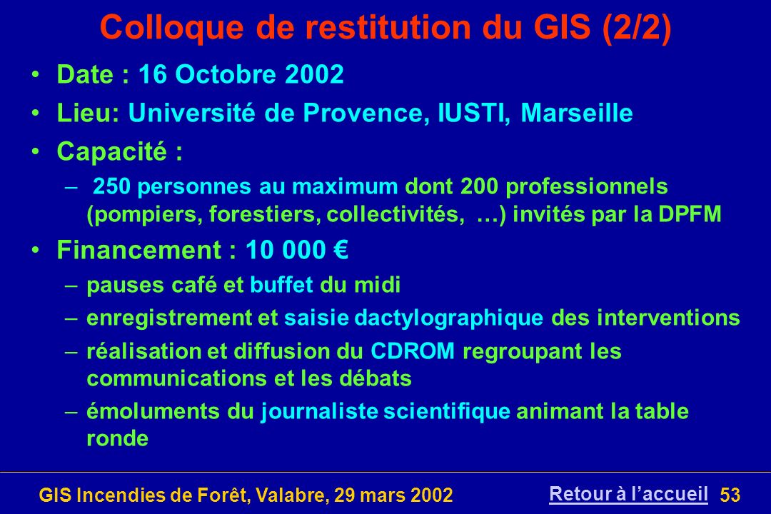 Colloque de restitution du GIS (2/2)