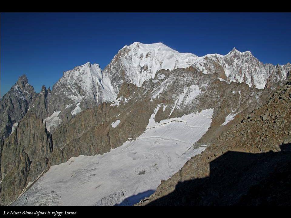 Le Mont Blanc depuis le refuge Torino