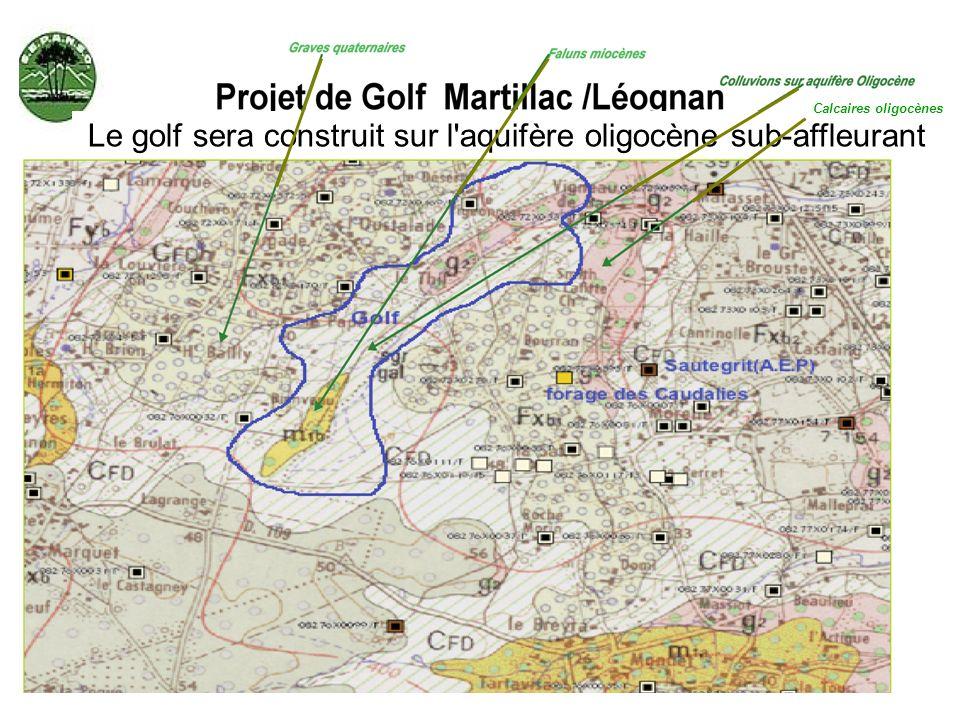 Le golf sera construit sur l aquifère oligocène sub-affleurant