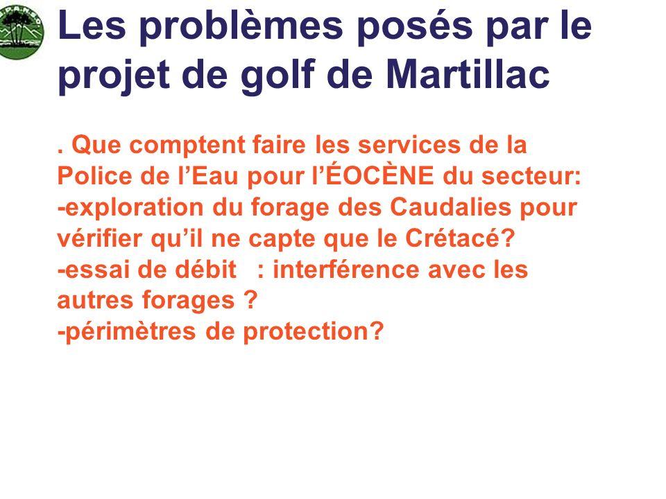 Les problèmes posés par le projet de golf de Martillac