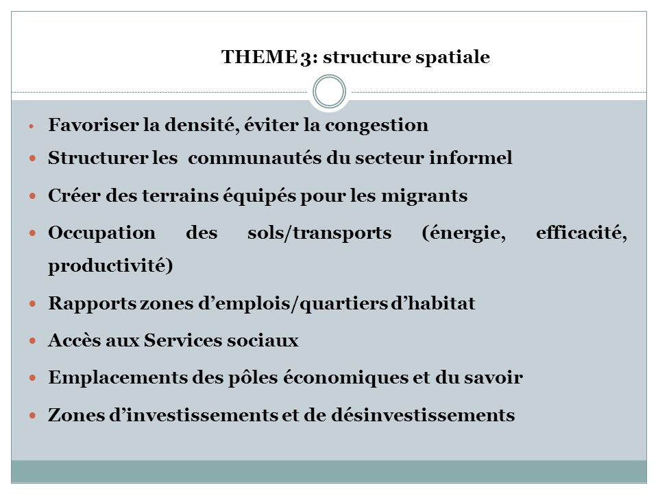 THEME 3: structure spatiale