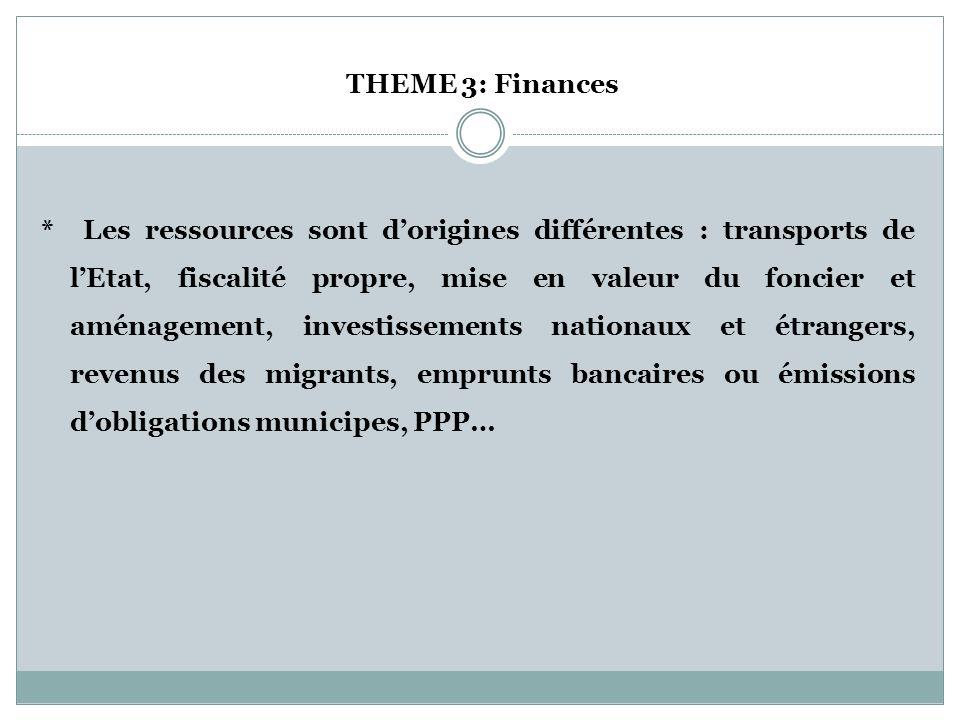 THEME 3: Finances