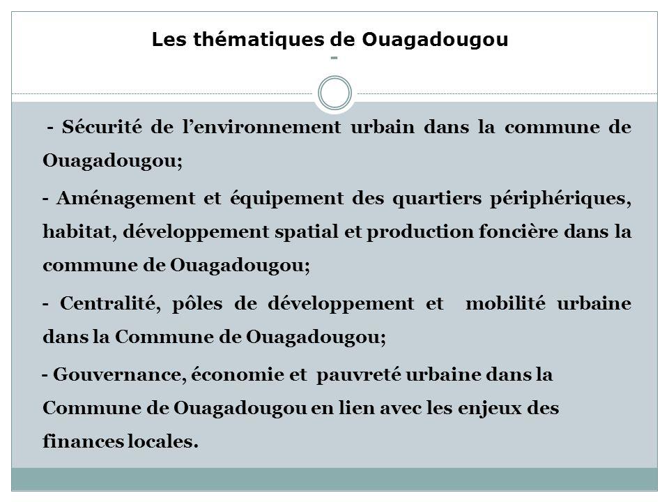 - Les thématiques de Ouagadougou