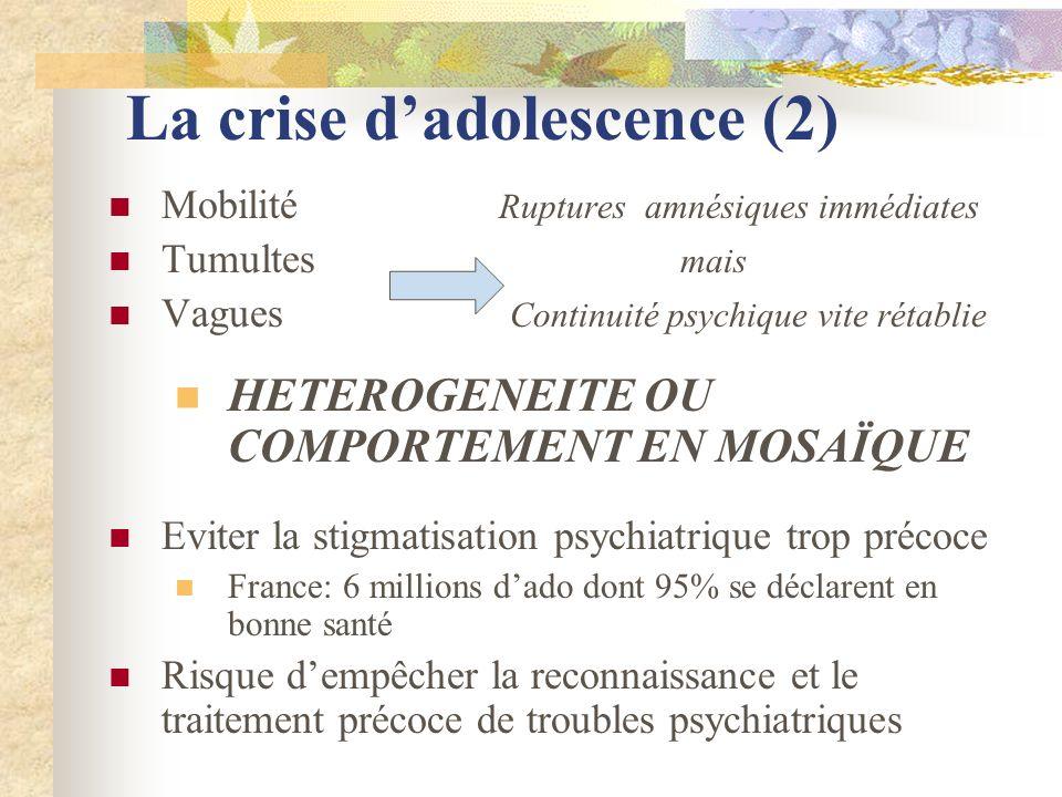 La crise d'adolescence (2)