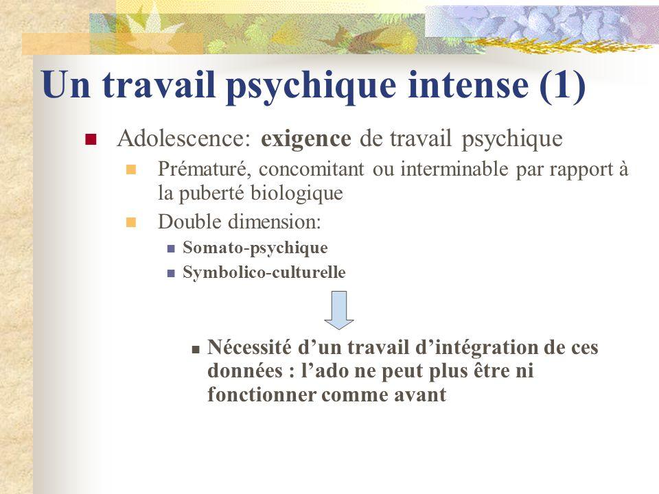 Un travail psychique intense (1)