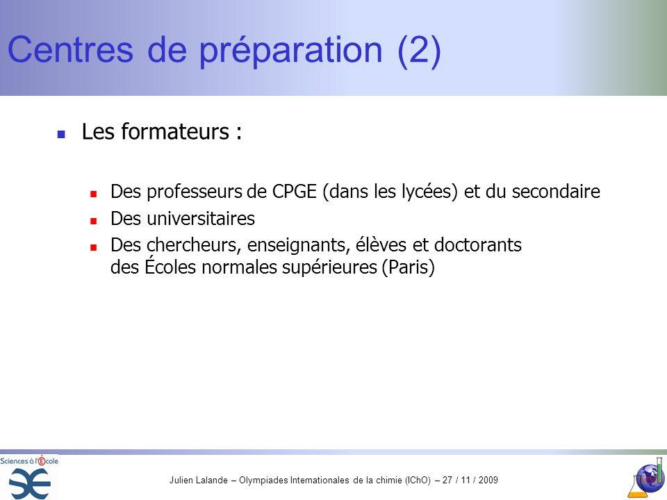 Centres de préparation (2)