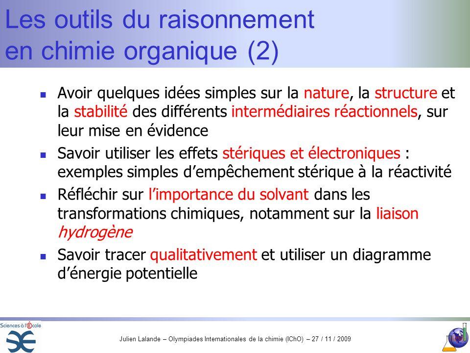 Les outils du raisonnement en chimie organique (2)