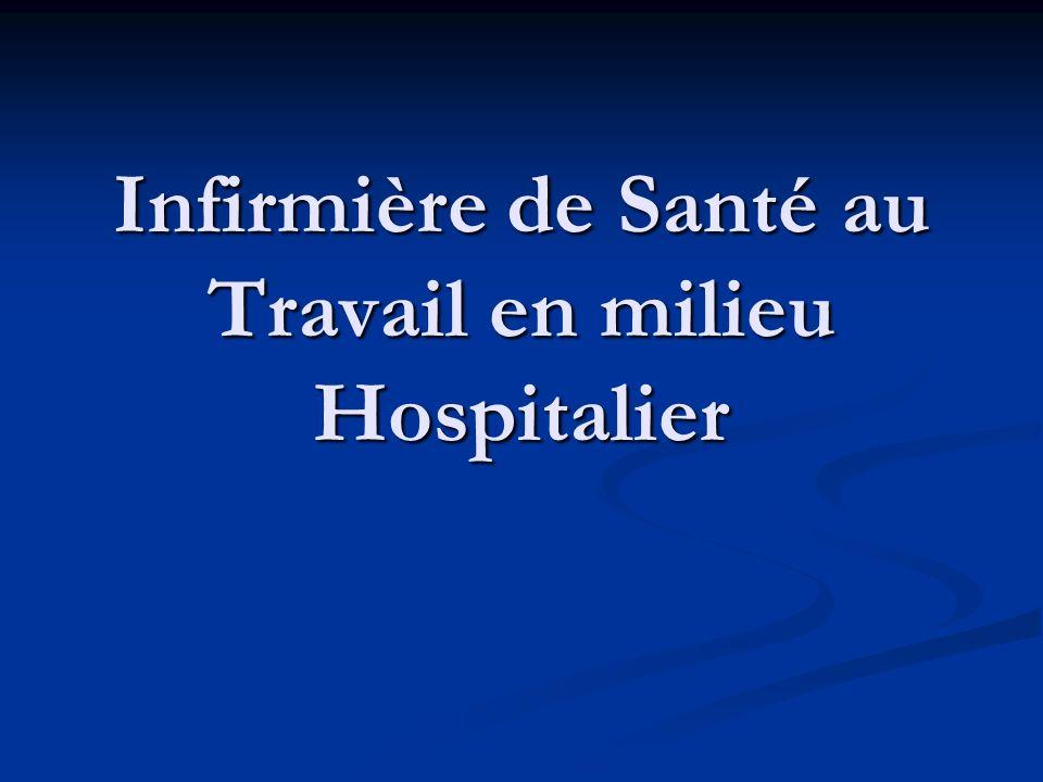 Infirmière de Santé au Travail en milieu Hospitalier