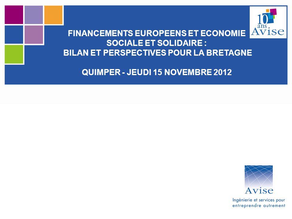 FINANCEMENTS EUROPEENS ET ECONOMIE SOCIALE ET SOLIDAIRE :