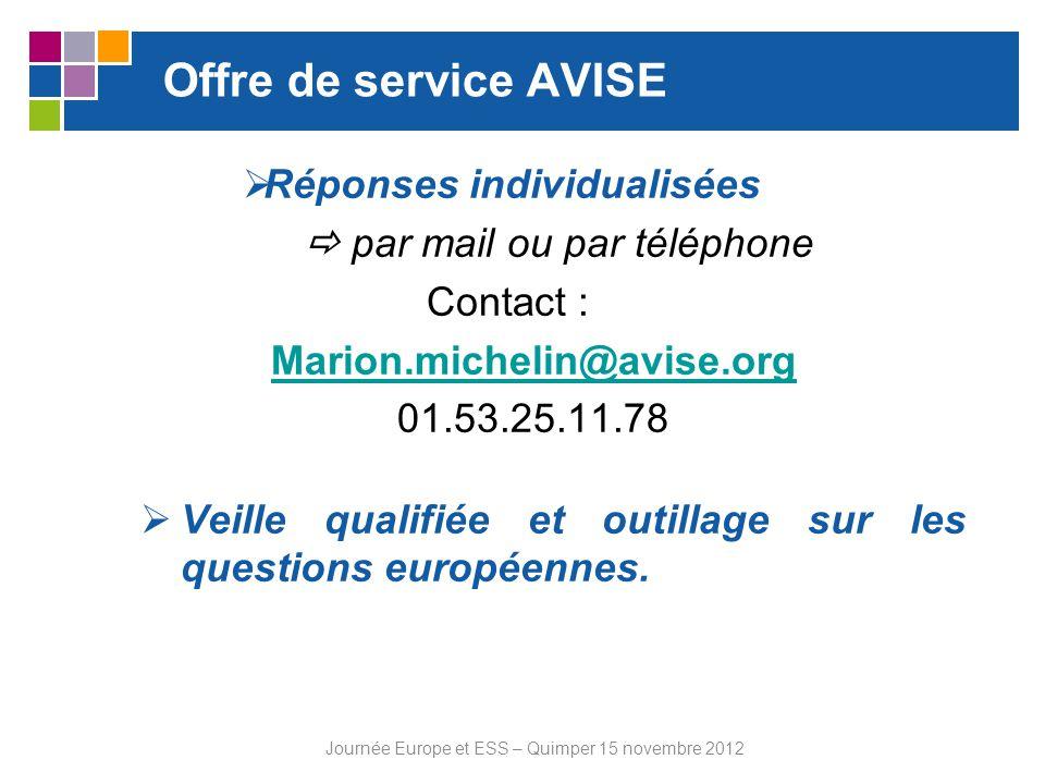 Journée Europe et ESS – Quimper 15 novembre 2012