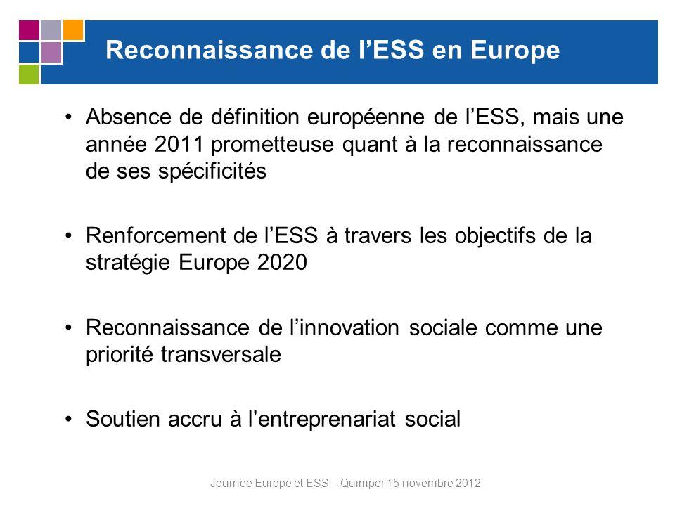Reconnaissance de l'ESS en Europe