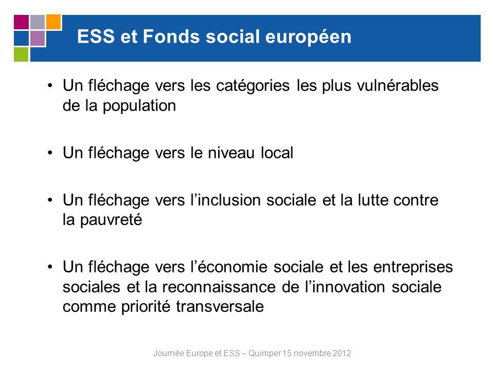 ESS et Fonds social européen