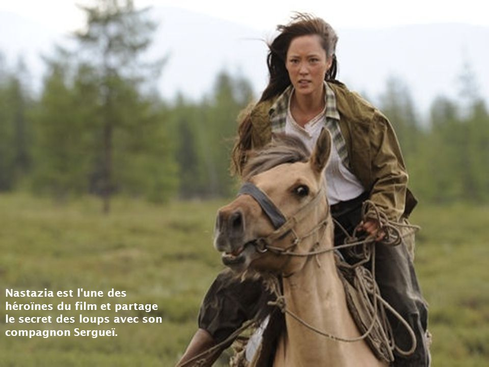 Nastazia est l une des héroïnes du film et partage le secret des loups avec son compagnon Sergueï.