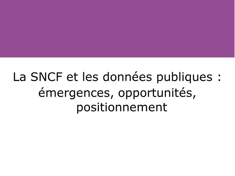 La SNCF et les données publiques :