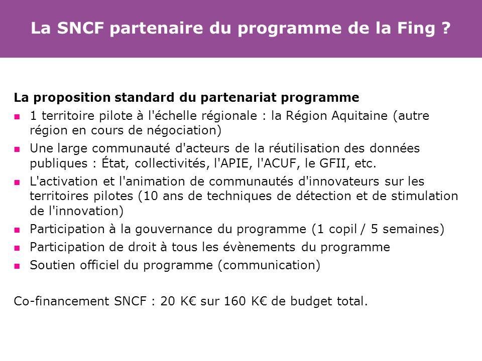 La SNCF partenaire du programme de la Fing