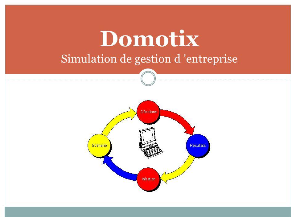 Domotix Simulation de gestion d 'entreprise