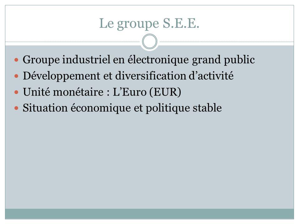 Le groupe S.E.E. Groupe industriel en électronique grand public
