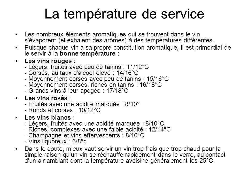 La température de service