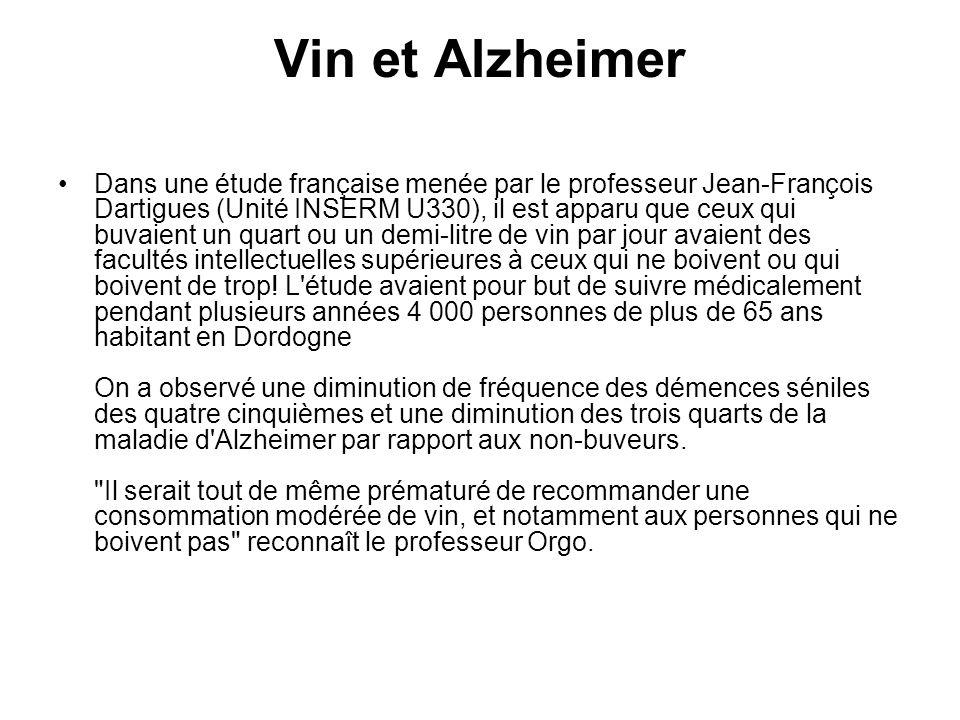 Vin et Alzheimer