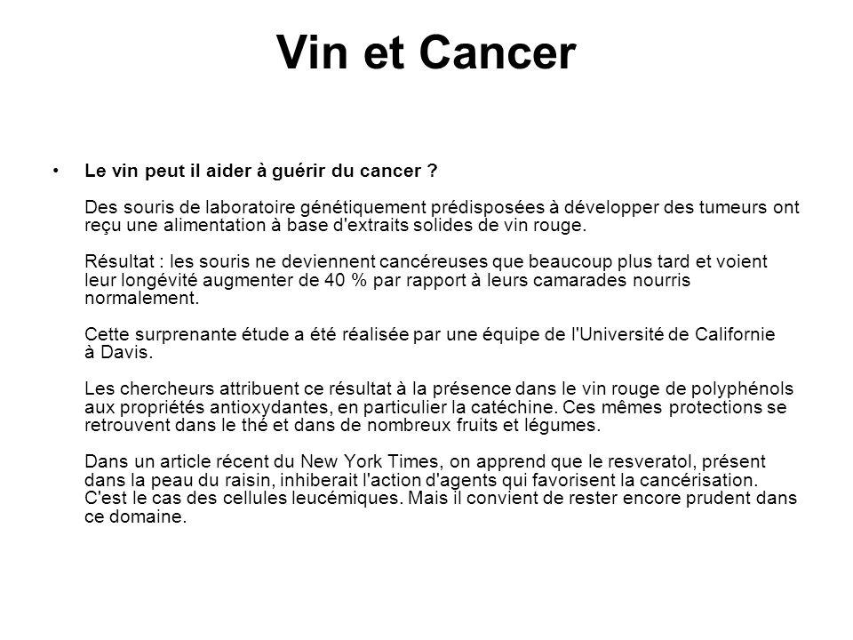Vin et Cancer