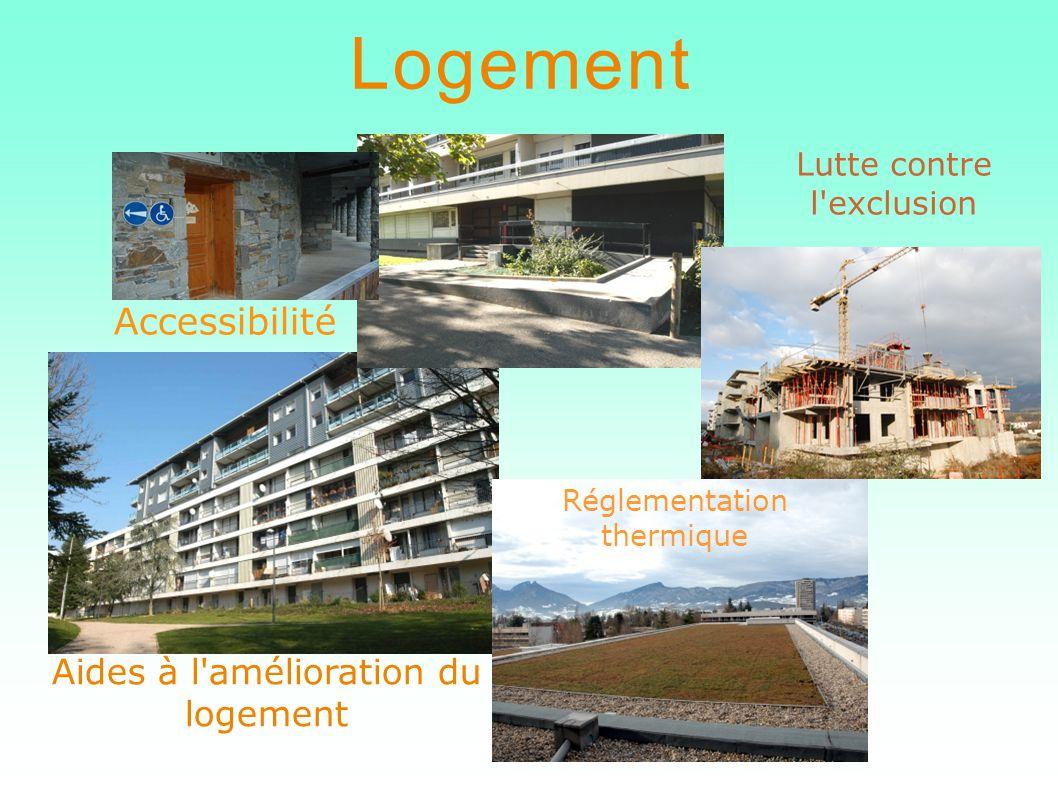 Logement Accessibilité Aides à l amélioration du logement Lutte contre