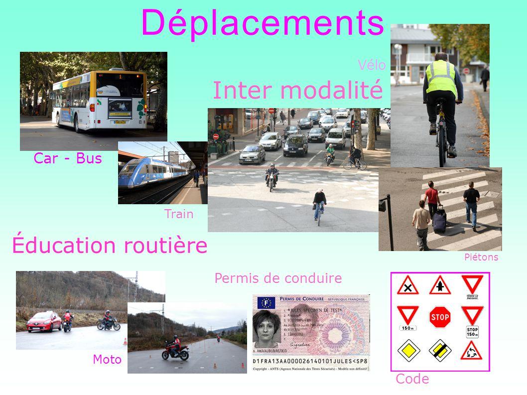 Déplacements Inter modalité Éducation routière Car - Bus Vélo