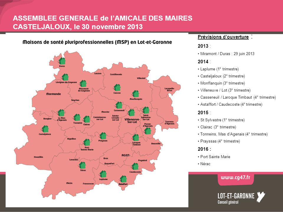 ASSEMBLEE GENERALE de l'AMICALE DES MAIRES