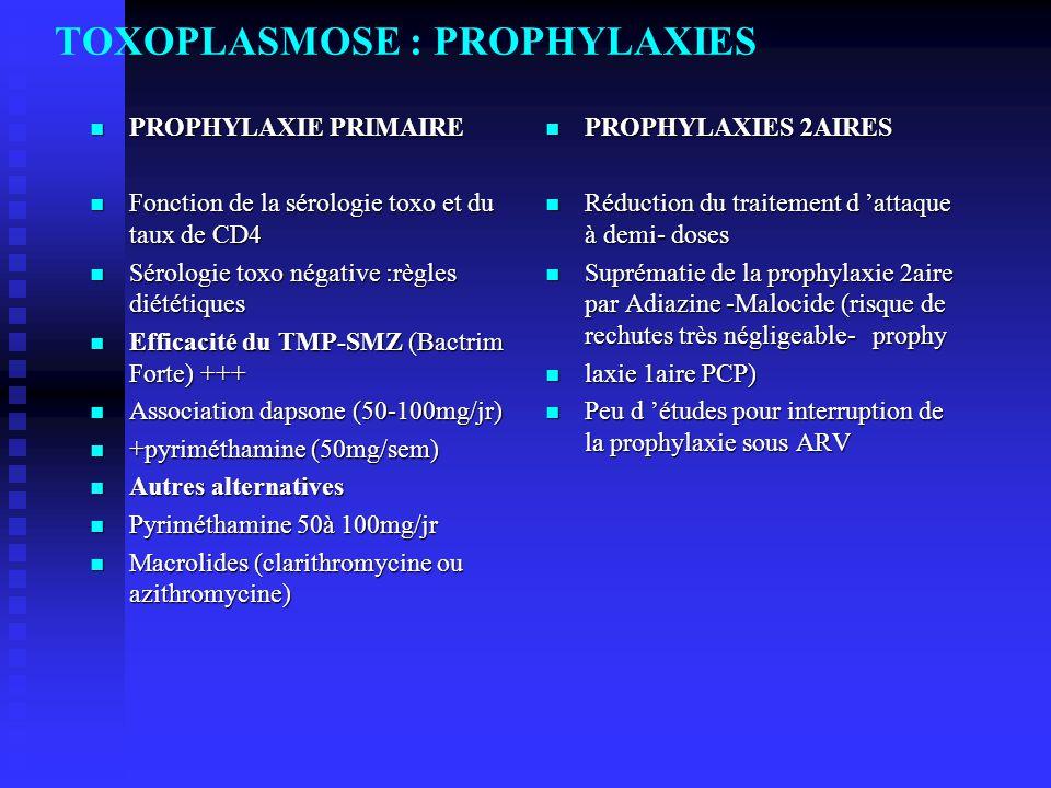 TOXOPLASMOSE : PROPHYLAXIES
