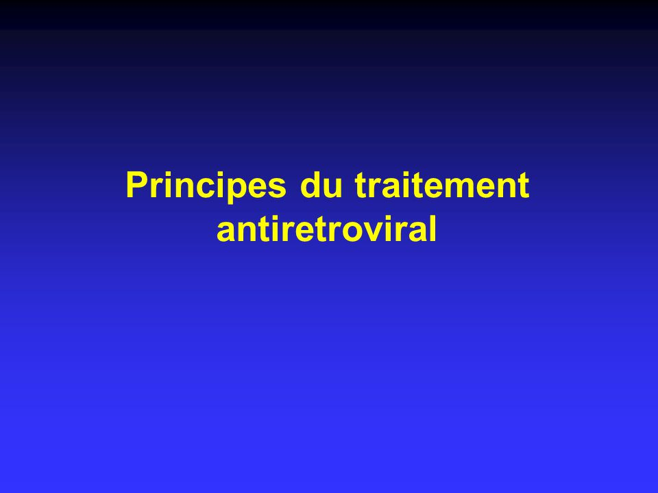 Principes du traitement antiretroviral
