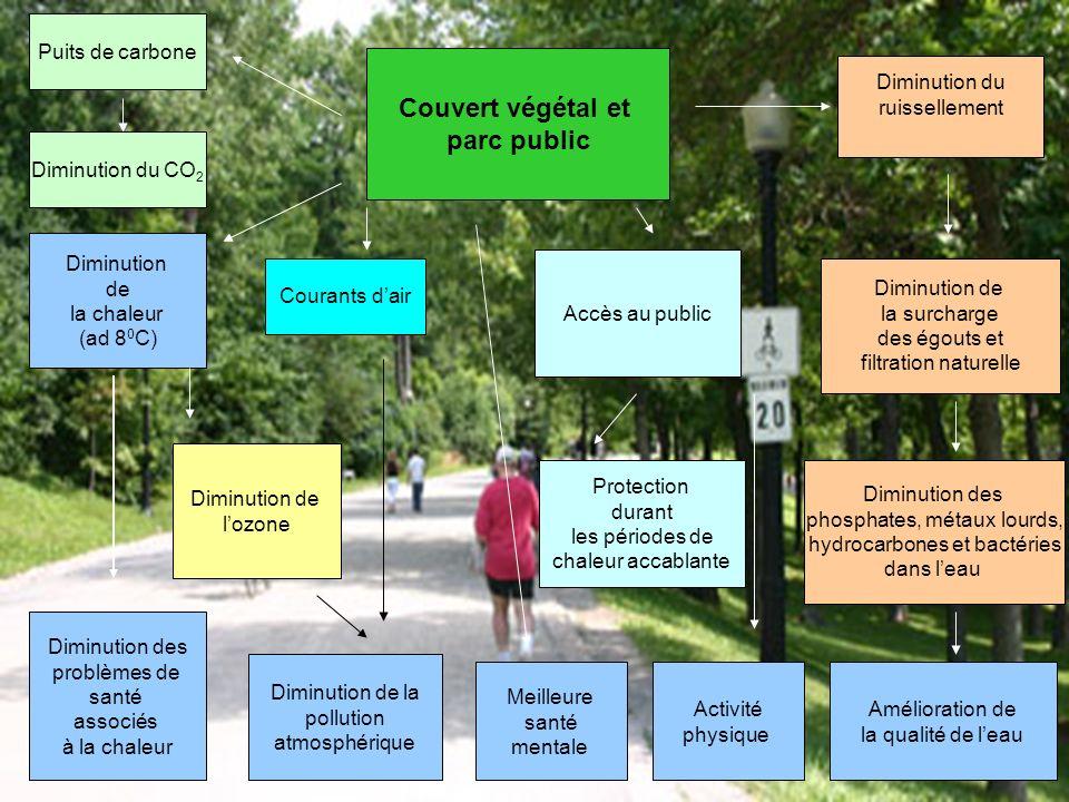 Couvert végétal et parc public
