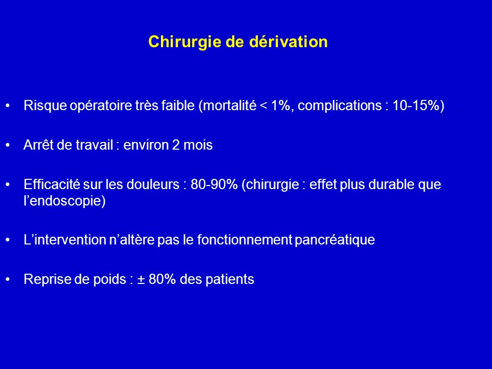 Chirurgie de dérivation