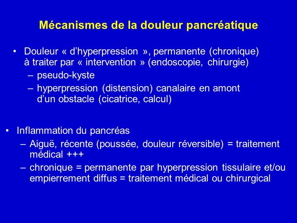 Mécanismes de la douleur pancréatique