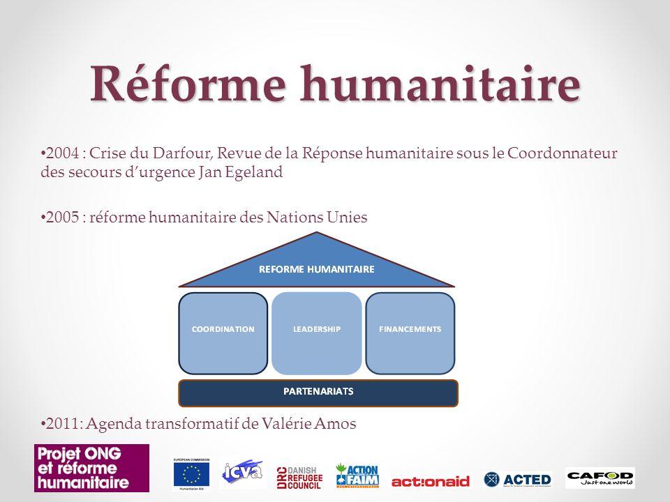 Réforme humanitaire 2004 : Crise du Darfour, Revue de la Réponse humanitaire sous le Coordonnateur des secours d'urgence Jan Egeland.