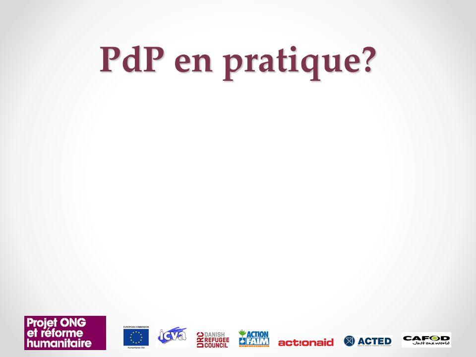 PdP en pratique