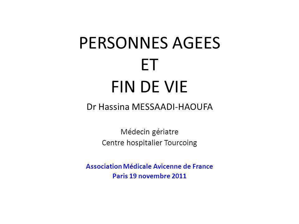 PERSONNES AGEES ET FIN DE VIE