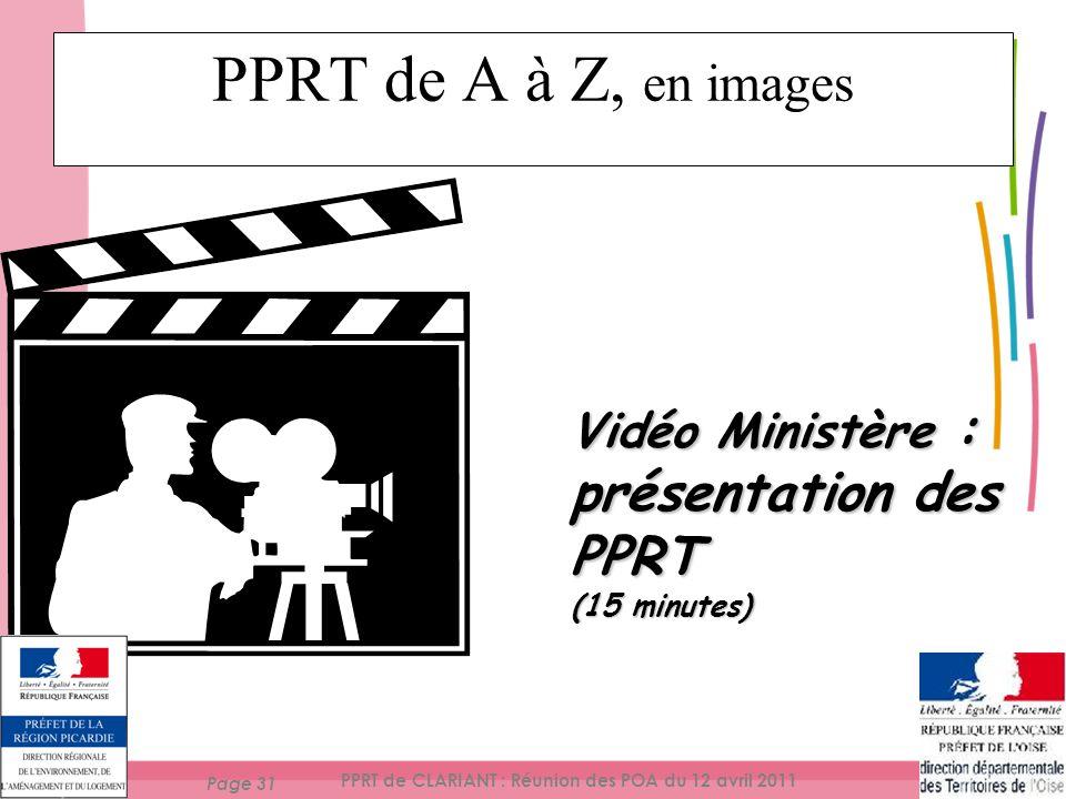 PPRT de CLARIANT : Réunion des POA du 12 avril 2011
