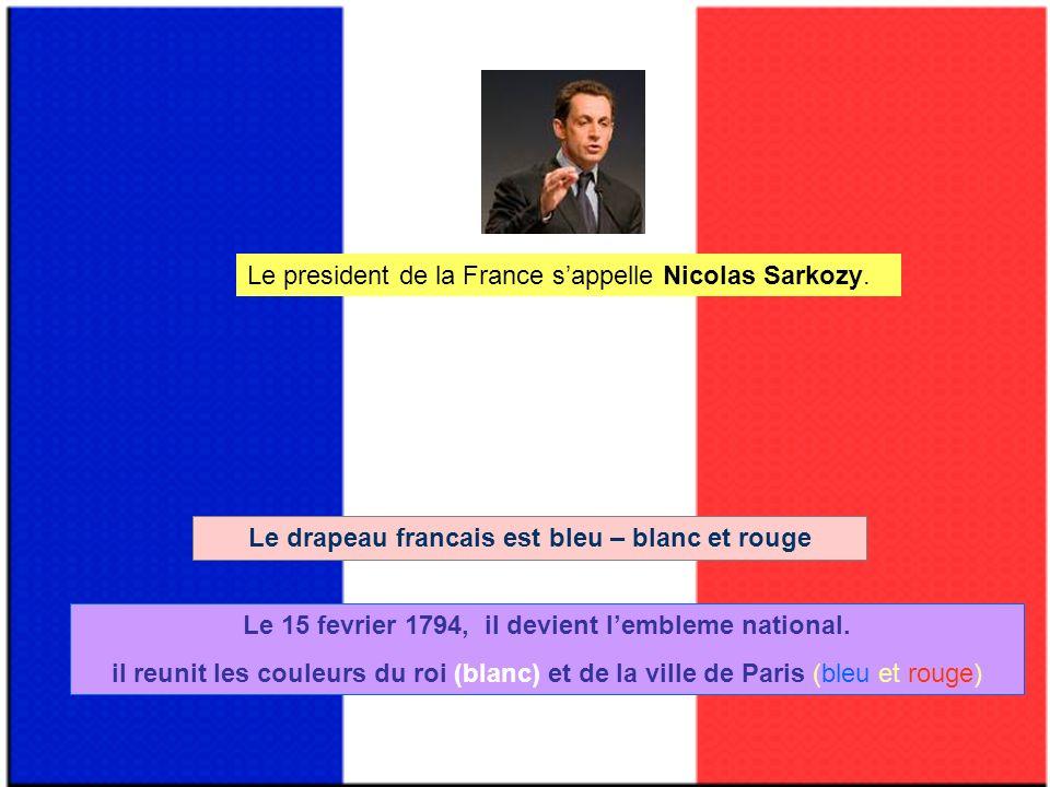 Le president de la France s'appelle Nicolas Sarkozy.
