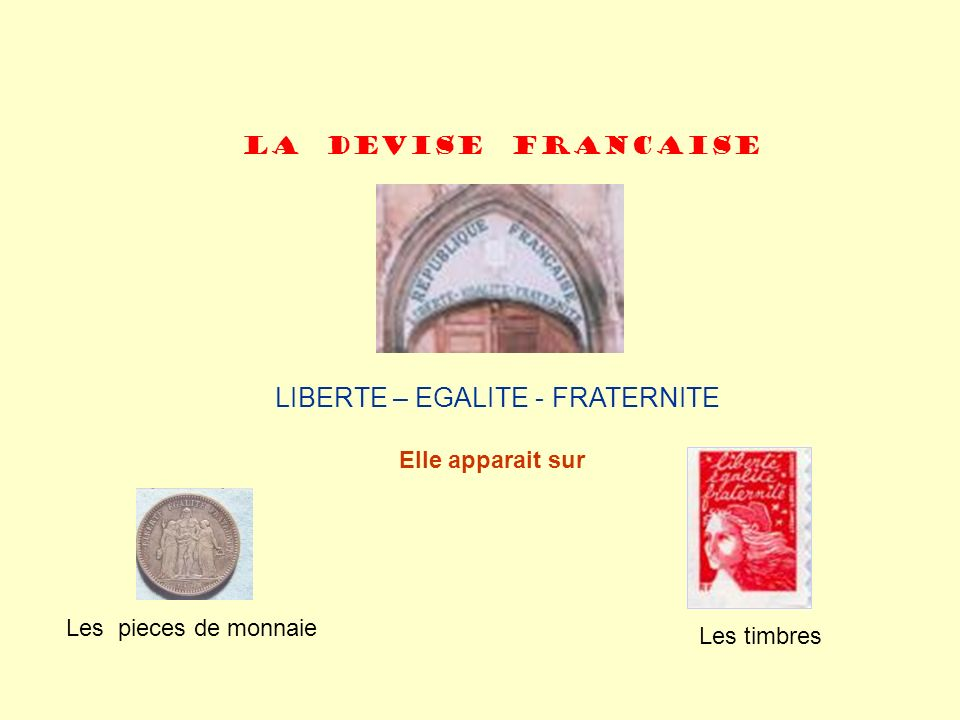 LIBERTE – EGALITE - FRATERNITE