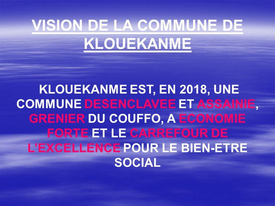 VISION DE LA COMMUNE DE KLOUEKANME
