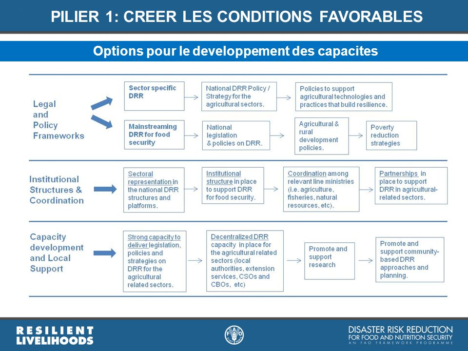 PILIER 1: CREER LES CONDITIONS FAVORABLES