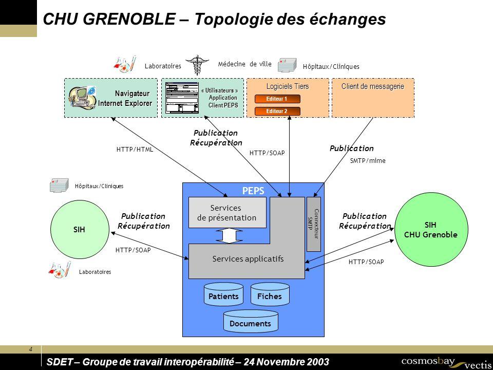 CHU GRENOBLE – Topologie des échanges