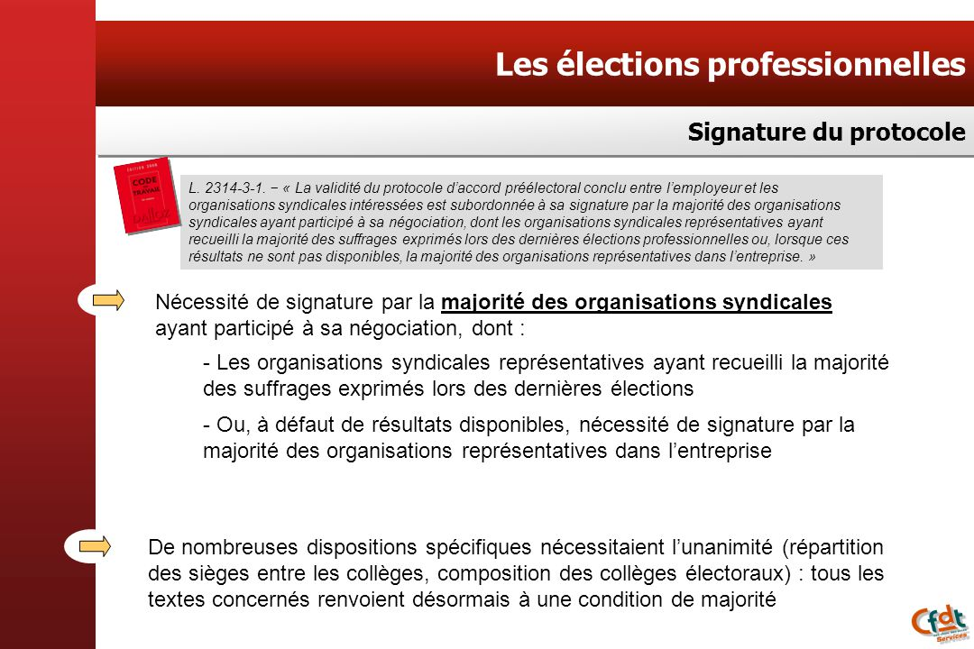 Les élections professionnelles