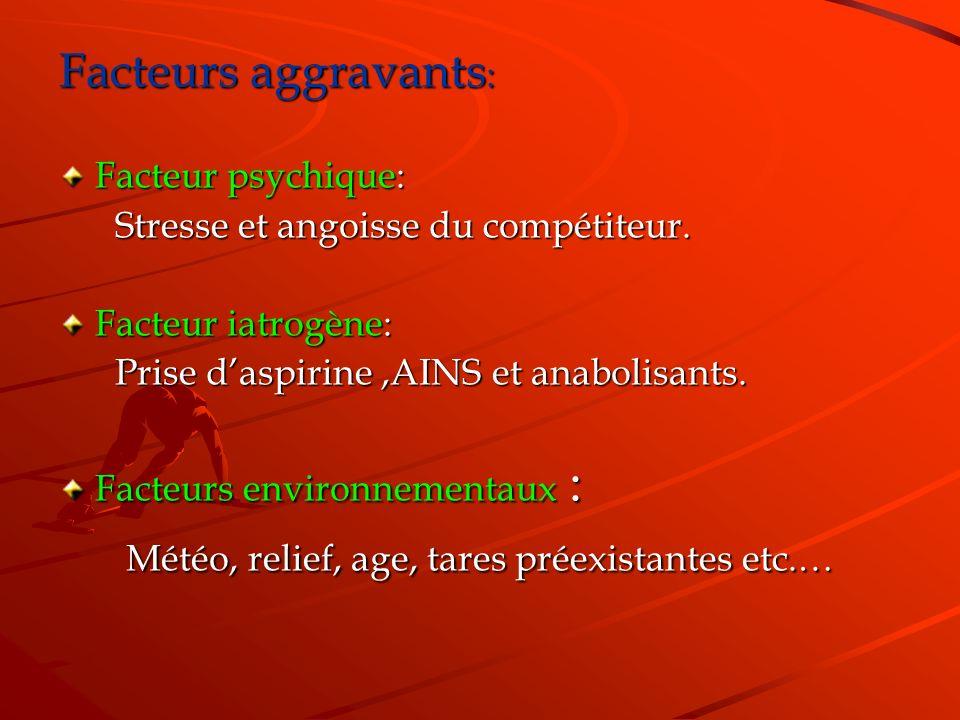 Météo, relief, age, tares préexistantes etc.…